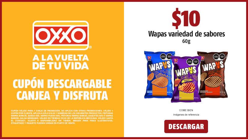 Oxxo, Wapas de Barcel $10