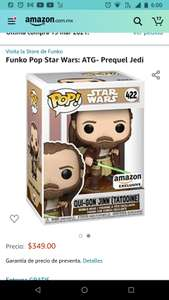 Amazon Funko Pop Star Wars: ATG- Prequel Jedi. AMAZON EXCLUSIVE QUI GON JINN (TATOOINE)