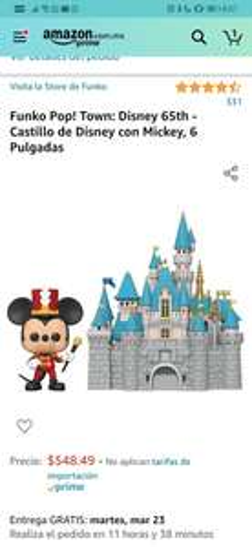 Amazon - Funko Castillo de Disney con Mickey