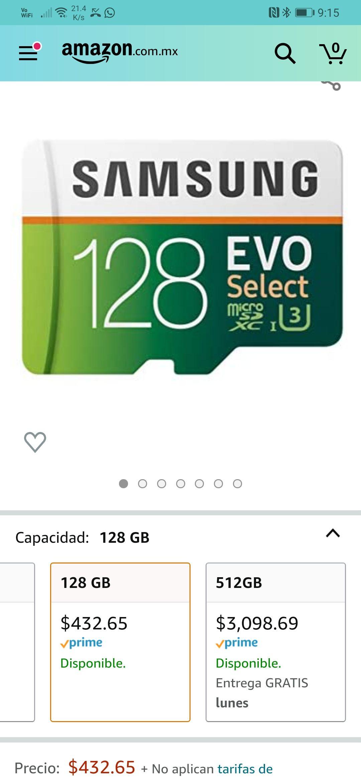 Amazon, Micro SD Evo Select 128Gb