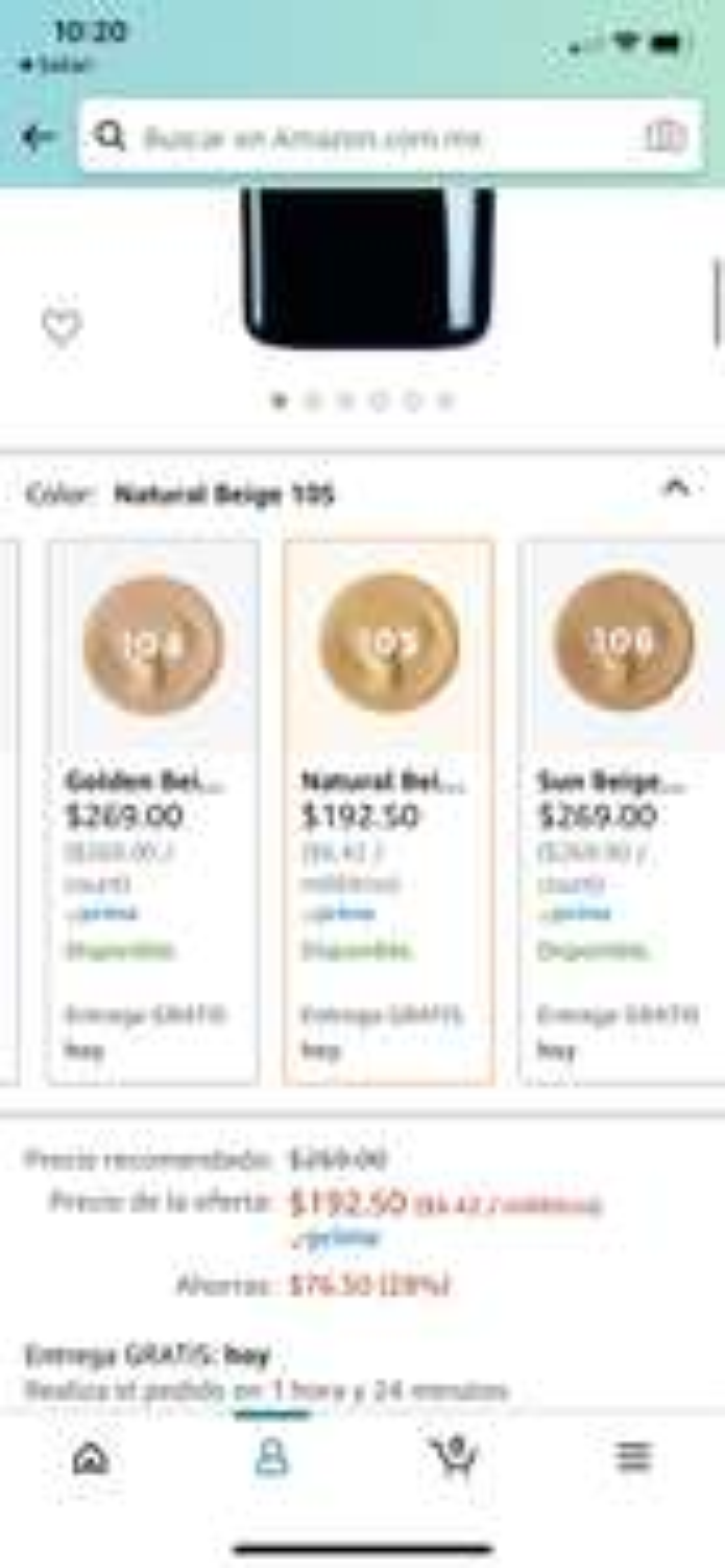 Amazon: L'Oreal Paris Base de maquillaje Infallible Matte Natural beige