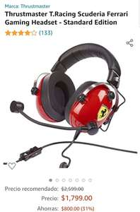 Amazon: Gaming Headset Thrustmaster T.Racing Scuderia Ferrari