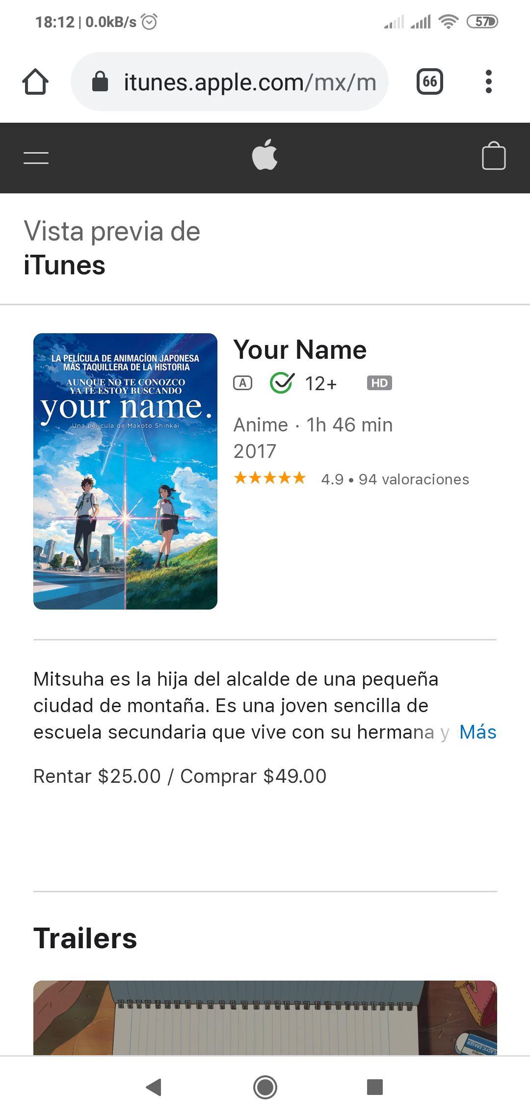 iTunes: Your Name y algunas recomendaciones a buen precio