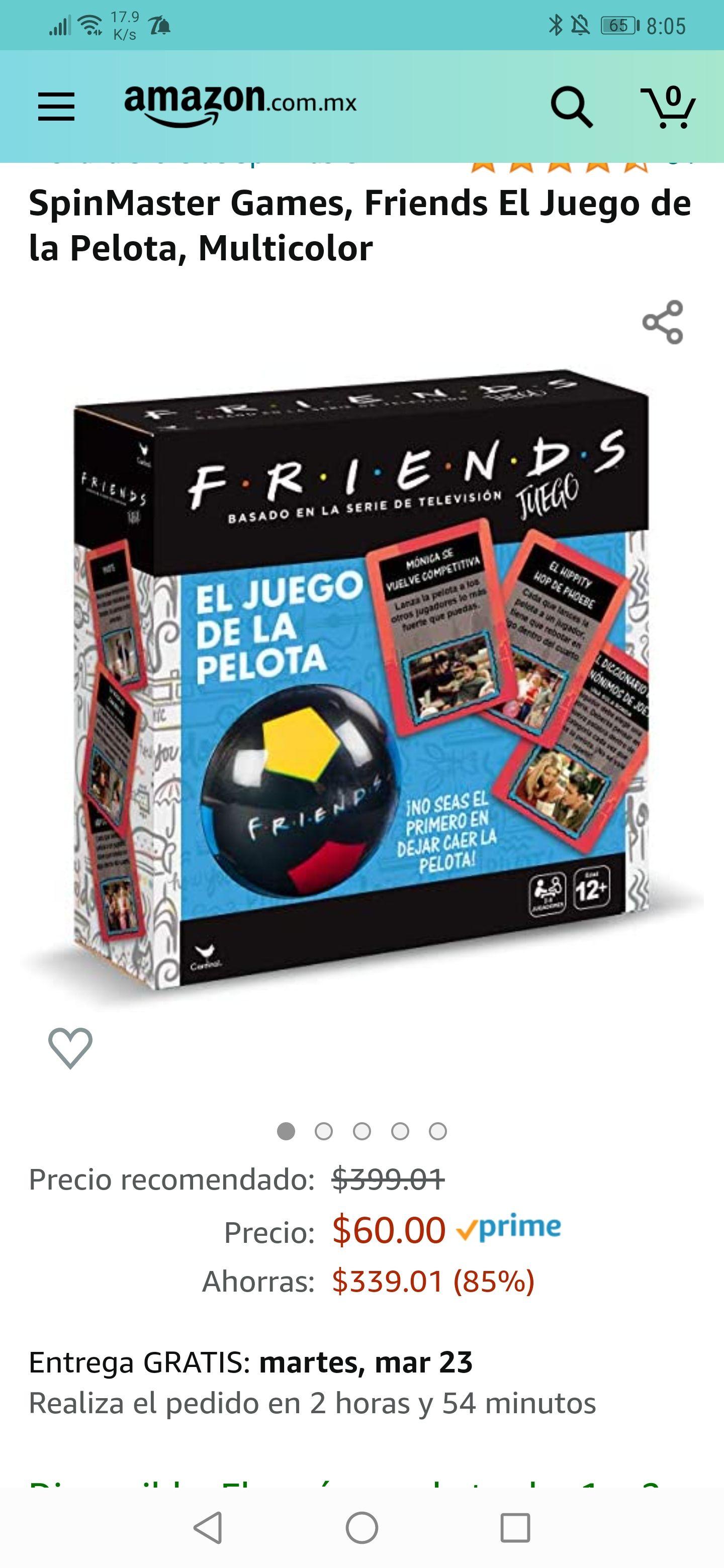 Amazon : Juego de Mesa Friends con pelota $60