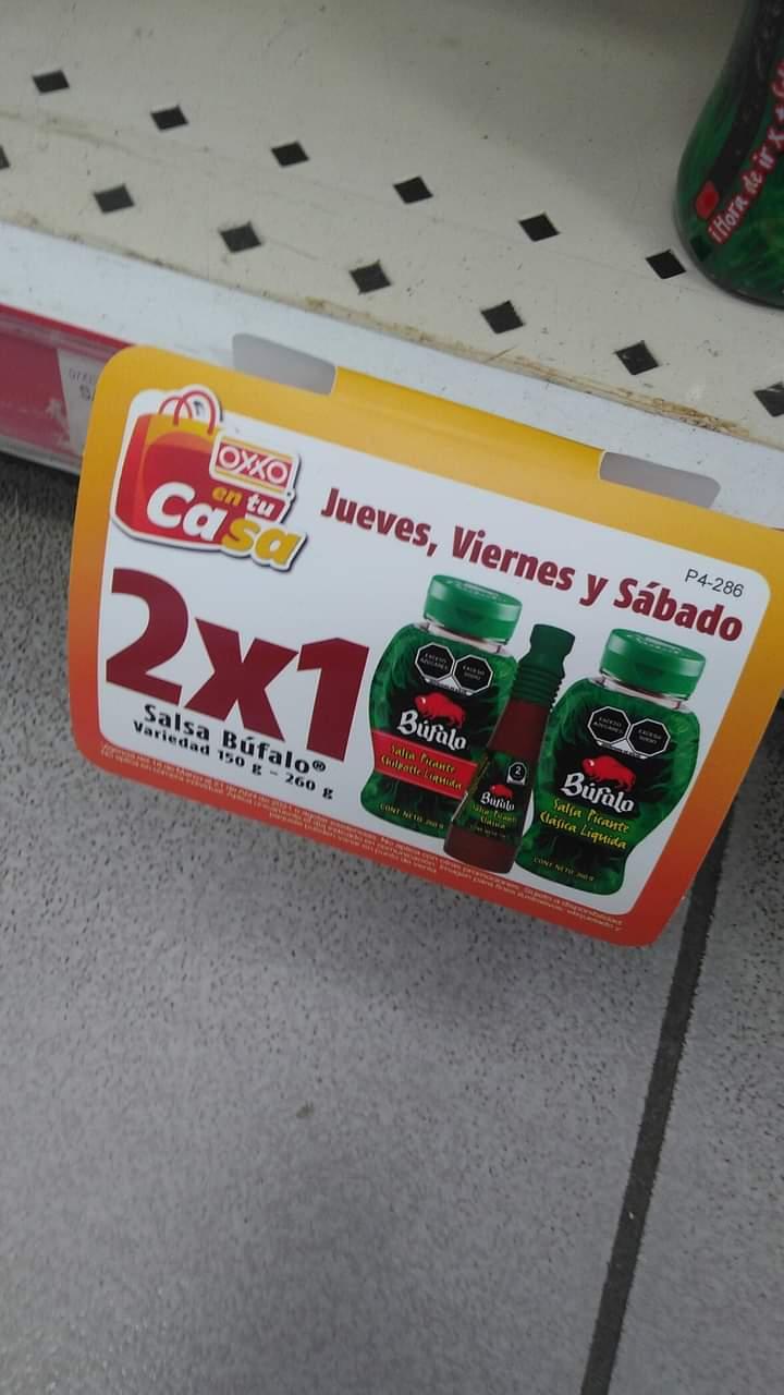 Oxxo : 2X1 Variedad de Salsas Bufalo