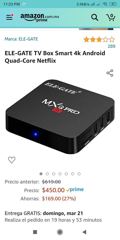 """Amazon: Android - TV Box (7.1) 1GB/8GB """"4K"""" (no apto para puristas)"""