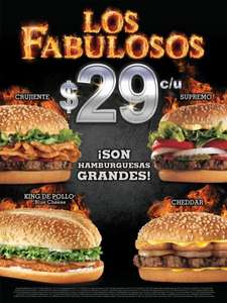 Burger King: los fabulosos a $29
