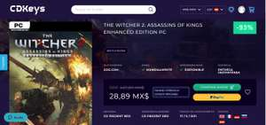 CDKeys THE WITCHER 2: ASSASSINS OF KINGS ENHANCED EDITION PC