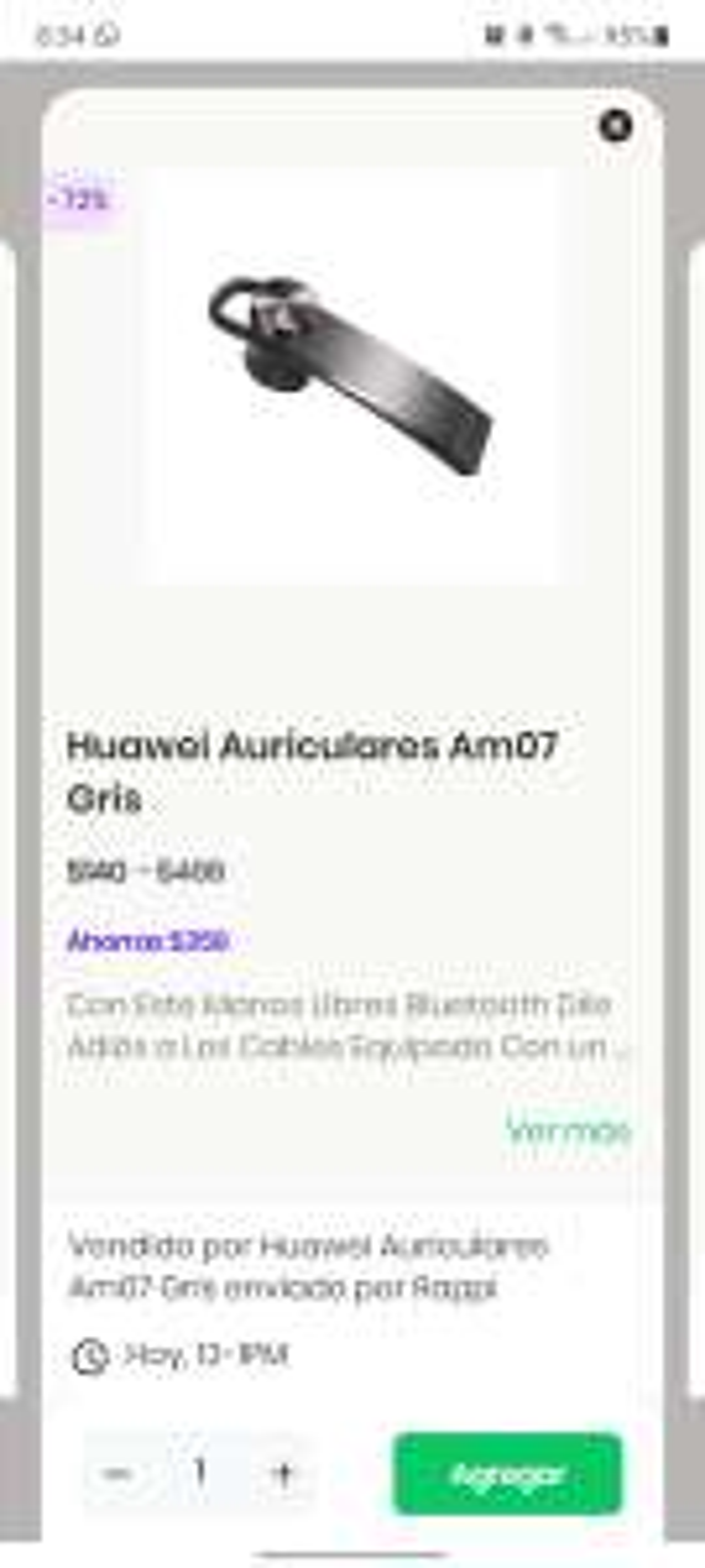 Rappi: Huawei Auricular AM07