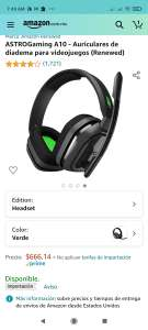 Amazon, ASTROGaming A10 - Auriculares de diadema para videojuegos (Renewed)