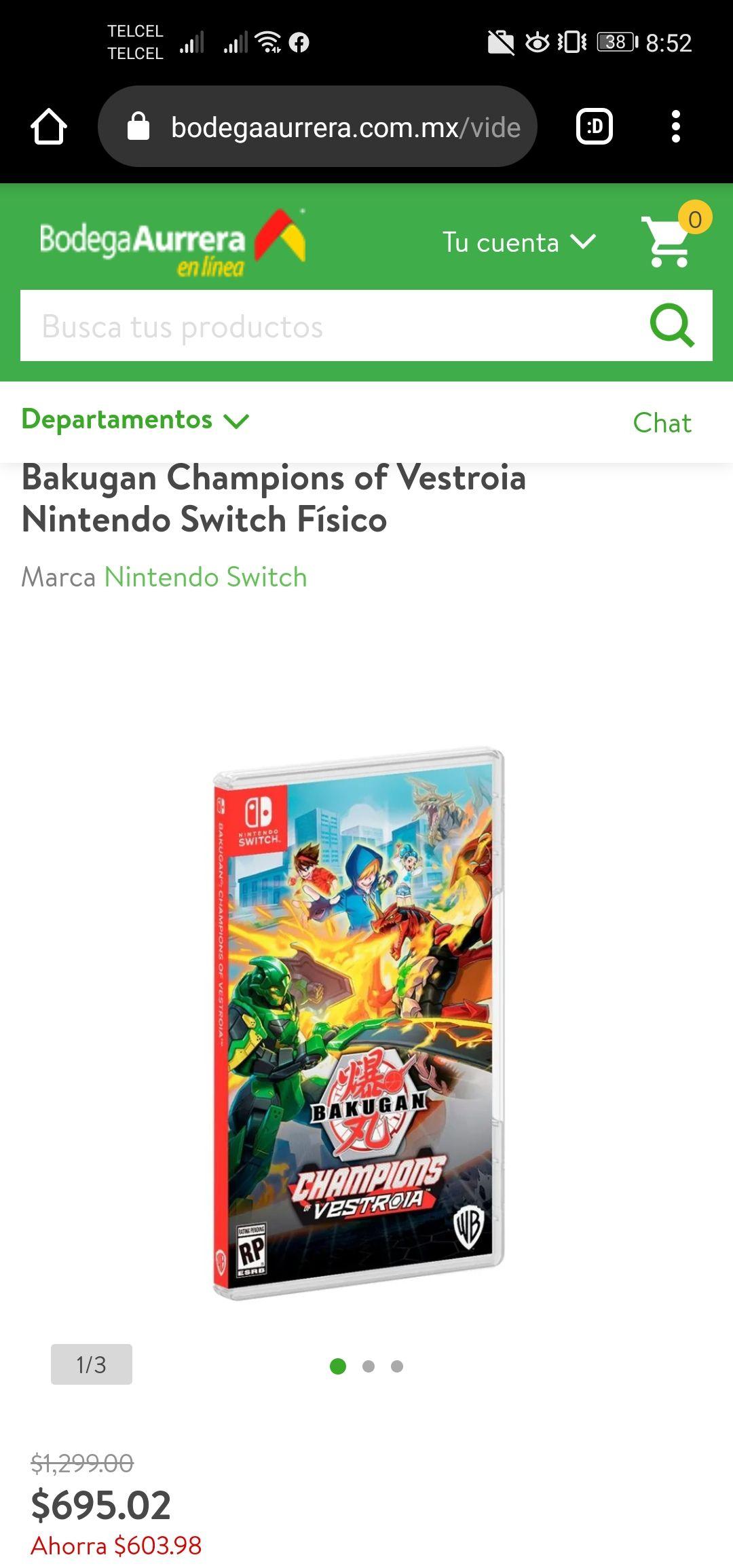 Bodega Aurrera: Bakugan Champions of Vestroia Nintendo Switch Físico