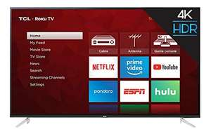 "Amazon: Smart TV TCL 65"" Roku (Renewed)"