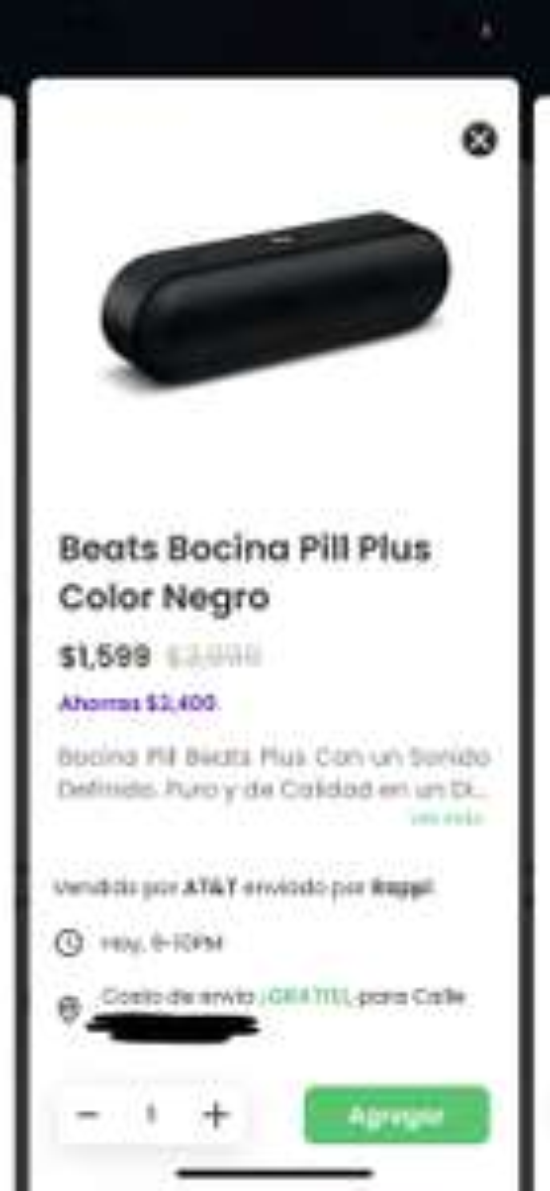 Rappi: Bocina Beats Pill+