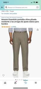 Amazon: Pantalones chinos amazon essentials 28 x 28 corte clásico