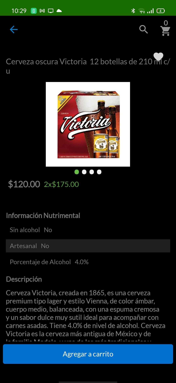 Cerveza Victoria en Superama