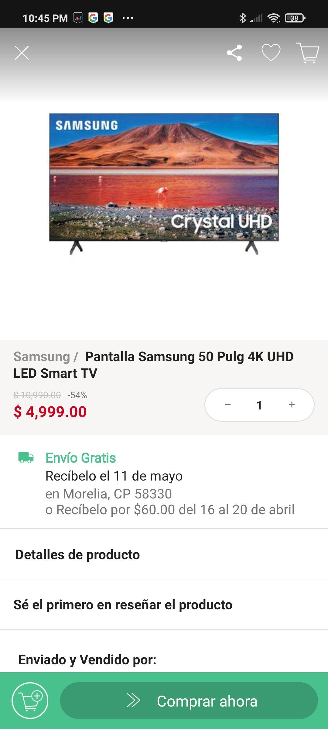 Linio: Smart tv Samsung 50 pulgadas