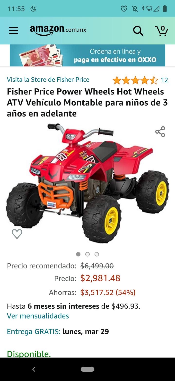 AMAZON vehículo montable Fisher Price