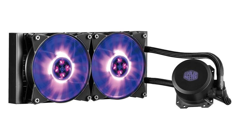 CyberPuerta: Cooler Master MasterLiquid ML240L RGB Enfriamiento Liquido para CPU, 2x 120mm