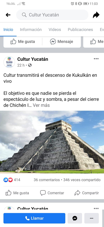 Cultur Yucatán: transmisión en vivo del equinoccio de primavera en Chichen Itzá (Descenso de Kukulcán)