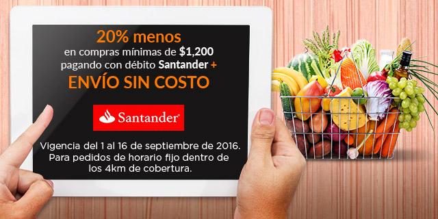 Superama en línea: 20% de descuento + envío GRATIS pagando con tarjetas de débito Santander