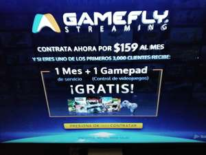 Totalplay: Streaming GameFly mes de prueba gratis y control de regalo