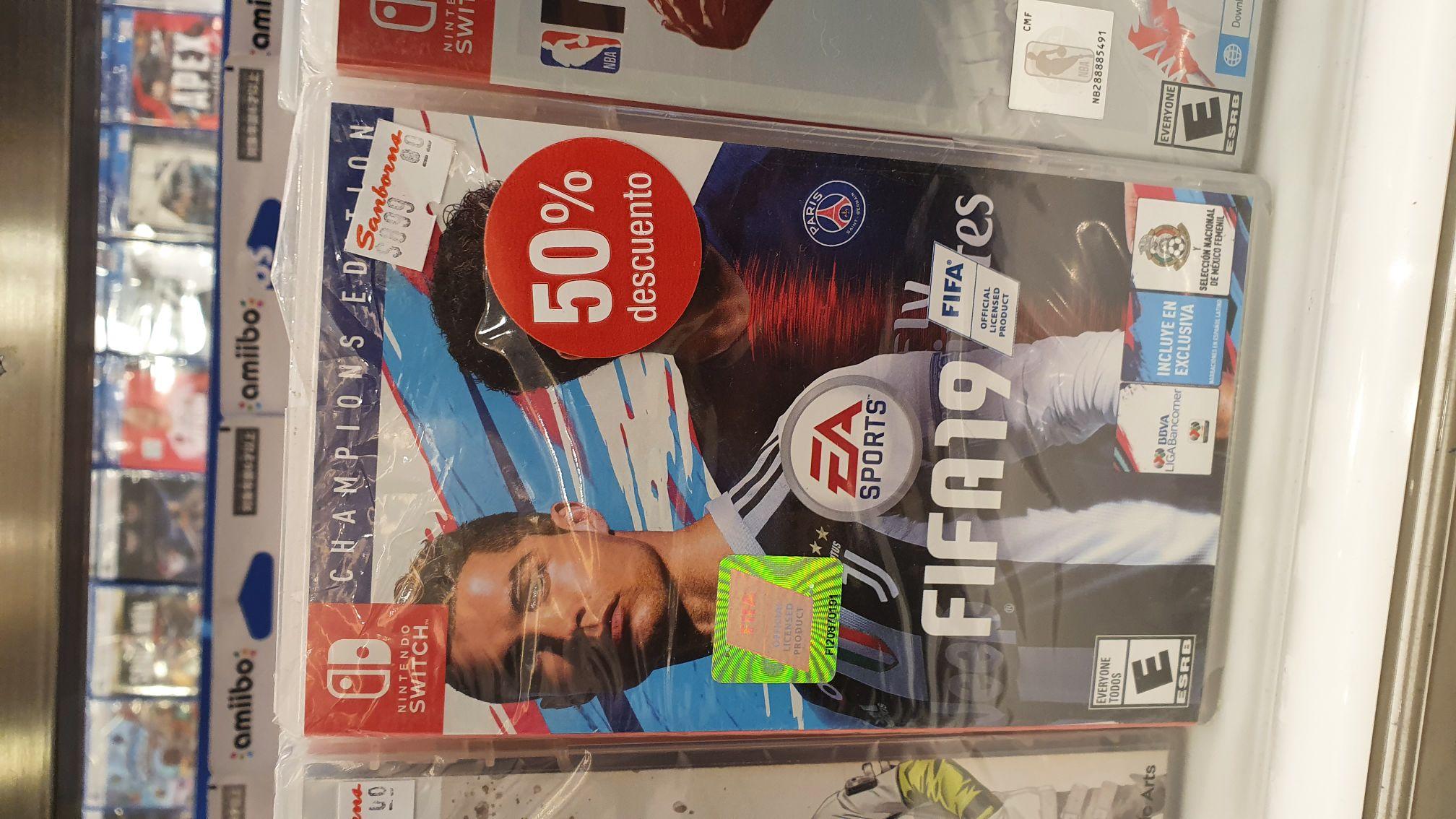 (SANBORNS) FIFA 19 NINTENDO SWITCH al 50% de descuento