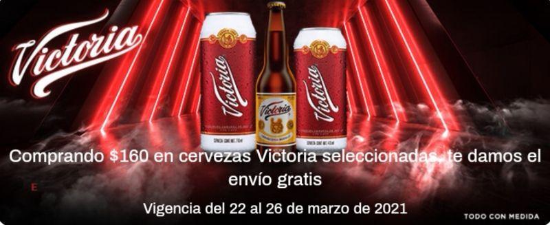 Chedraui: Envío gratis en tu súper en la compra de $160 en cervezas Victoria seleccionadas