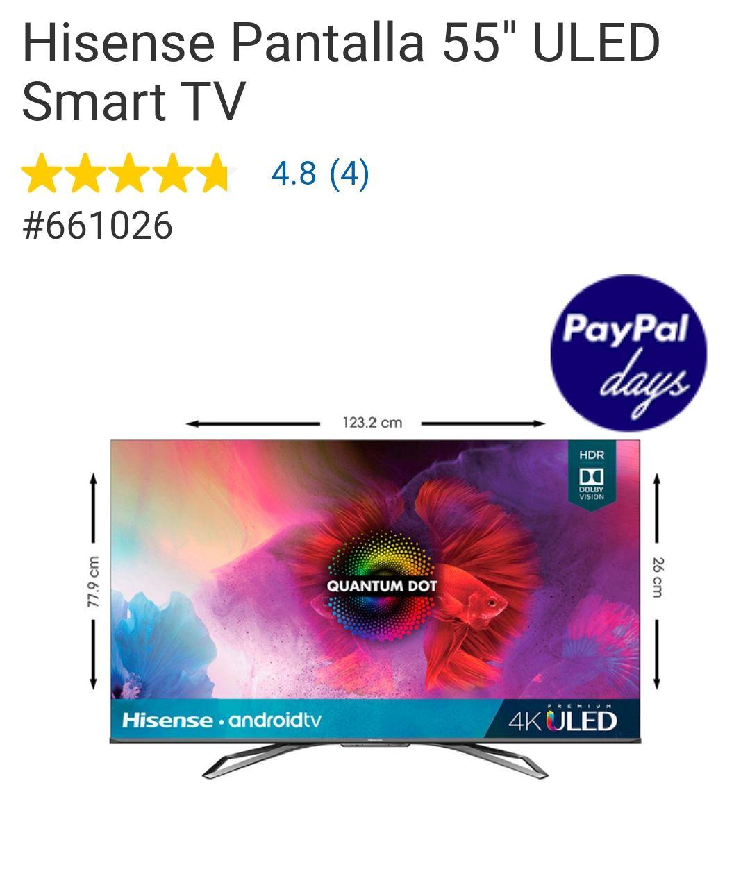"Costco: Hisense Pantalla 55 H9G "" ULED Smart TV"
