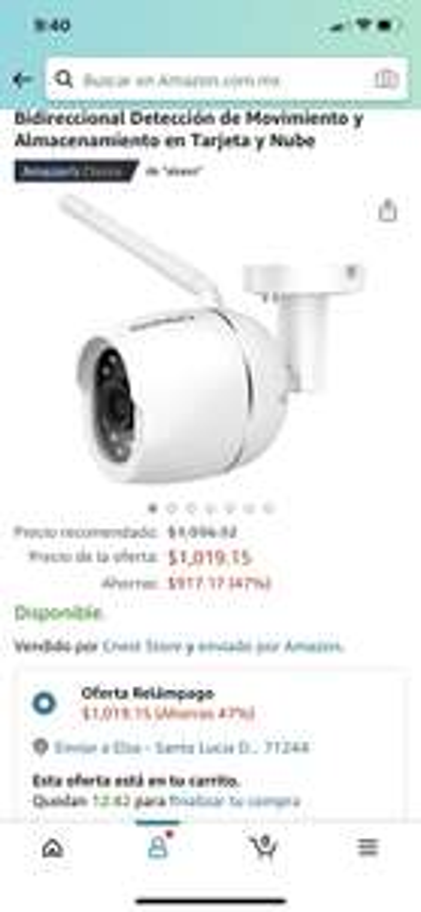 Amazon: Cámara wifi Akaso