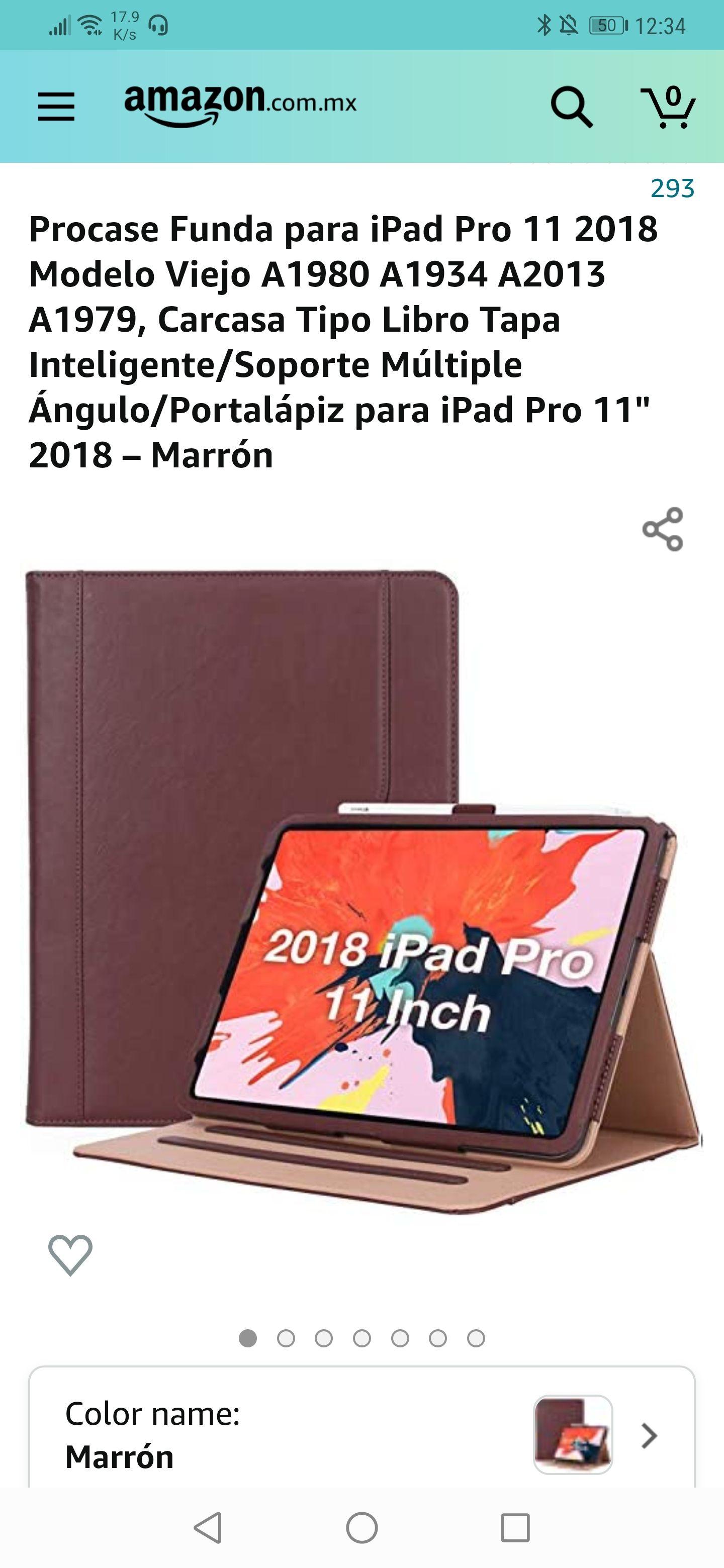 Amazon: Funda iPad pro 2018 con portalapiz