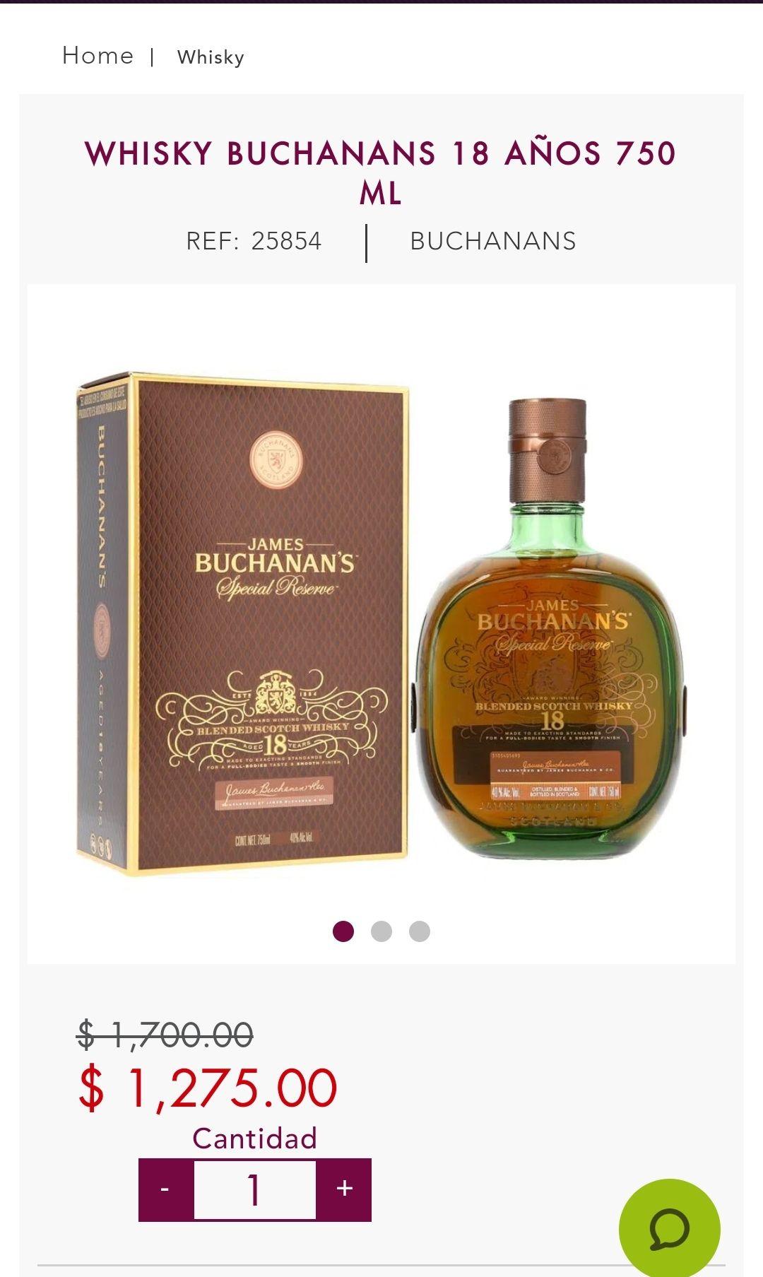 Bodegas Alianza: Whisky buchanans 18 años 750ml
