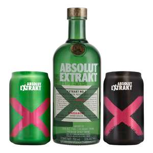 Bodegas Alianza: Vodka Absolut Extrakt 700ml con regalos