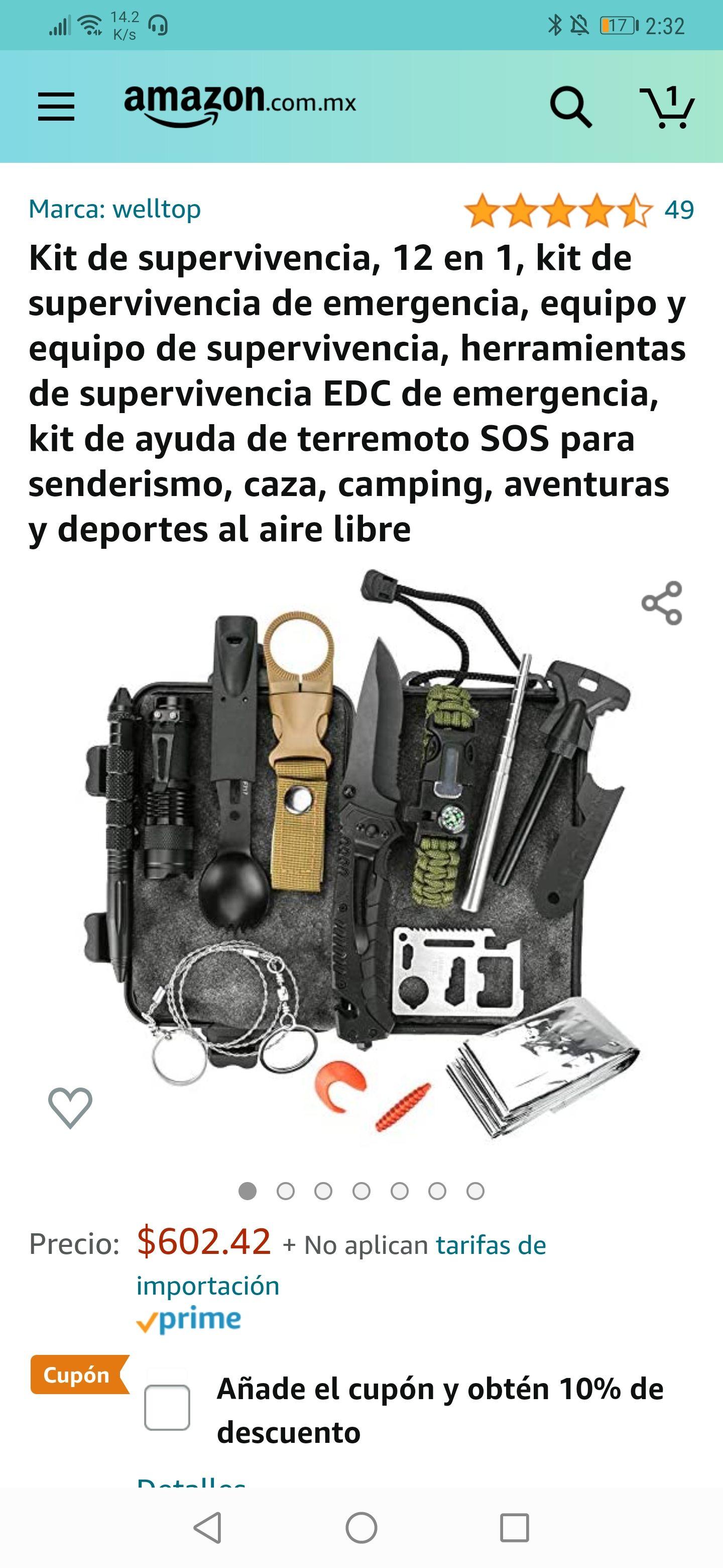 Amazon: Kit de supervivencia personal 12 en 1 (menor precio histórico)