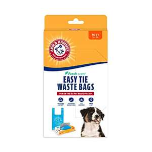 Amazon: Arm & Hammer Easy-Tie Waste Bags 75-Pack