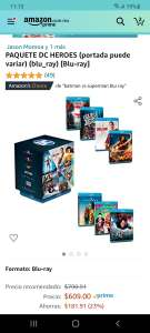 Amazon: PAQUETE DC HEROES Blu-ray