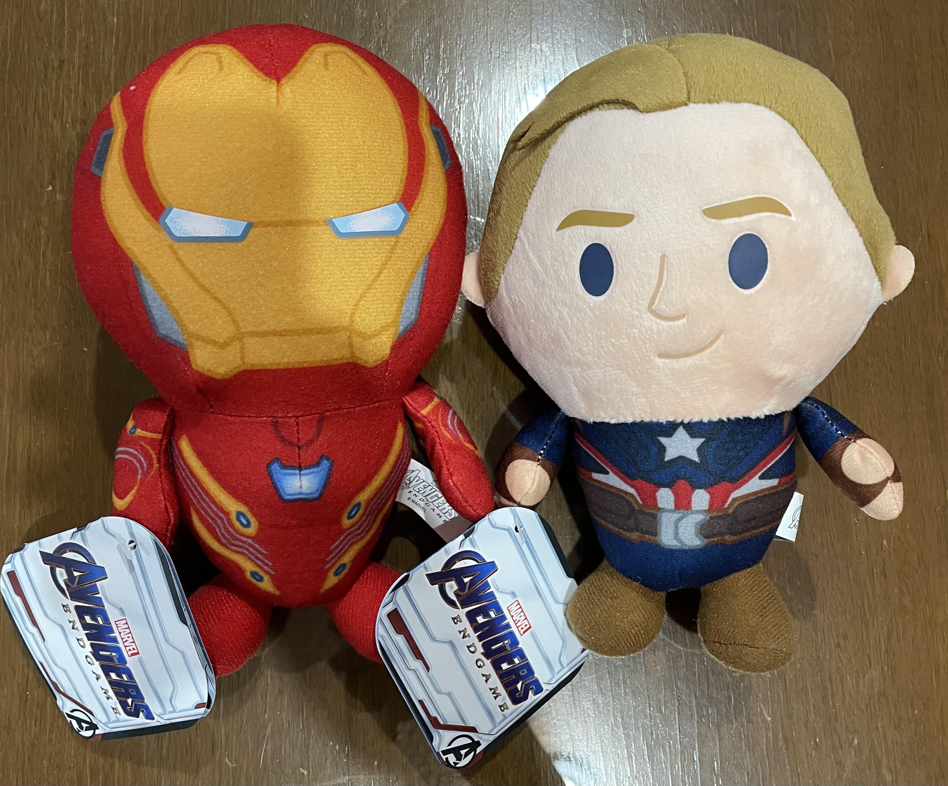 Bodega Aurrera: Iron man y capitán América del peluche