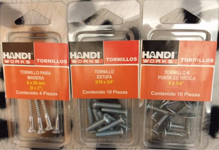 Walmart Unidad Taxqueña: Tornillo para madera, Tornillo estufa, Tornillo K Punta de Broca Handi Works en $1.01