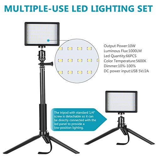 Amazon: Neewer - Paquete de 2 luces de video LED USB regulables
