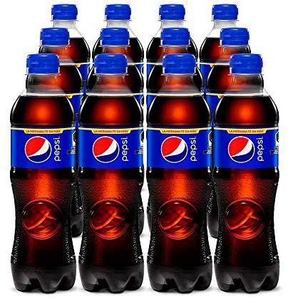 Amazon: Pepsi Regular, Refresco De Sabor Cola, Pet De 500 Mililitros. Paquete De 12