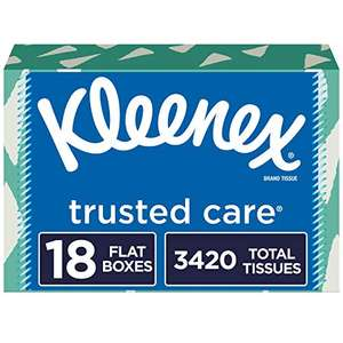 Amazon: Kleenex trusted care (18 pack) (3420 pañuelos en total)