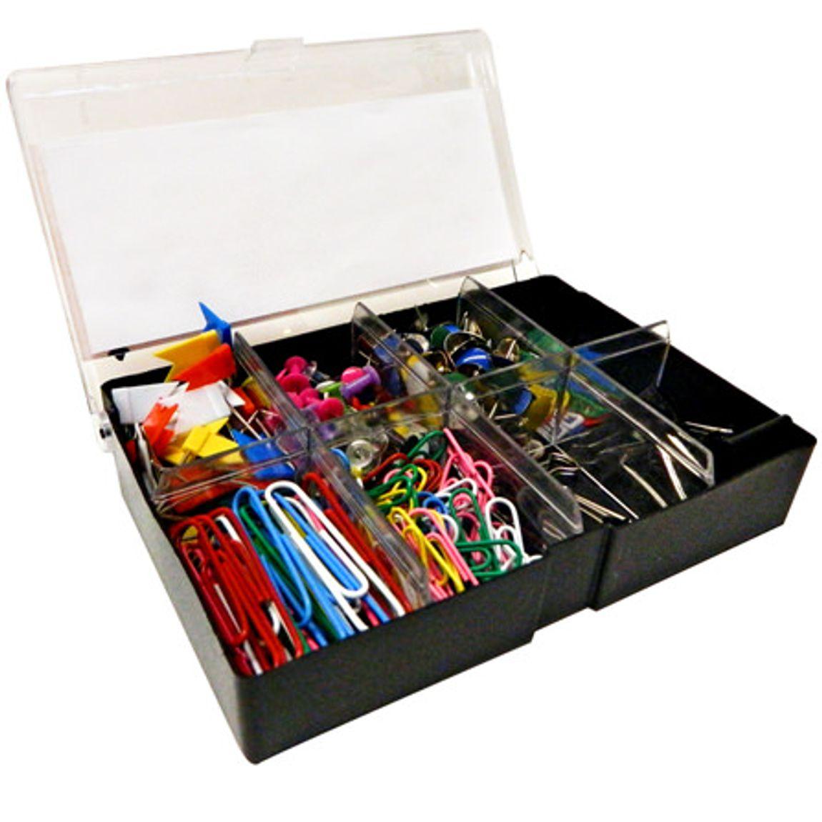 Caja de Accesorios (Pin/Clips,Chinches, Sujetadocumentos) OFFICE MAX GRATIS RECOLECCION EN TIENDA