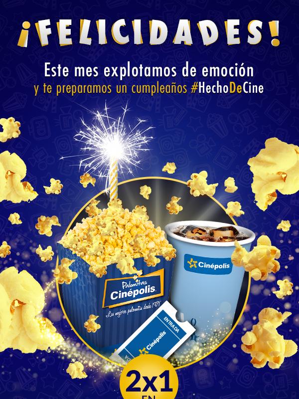 Cinépolis: promociones para el mes de tu cumpleaños con Club Cinépolis