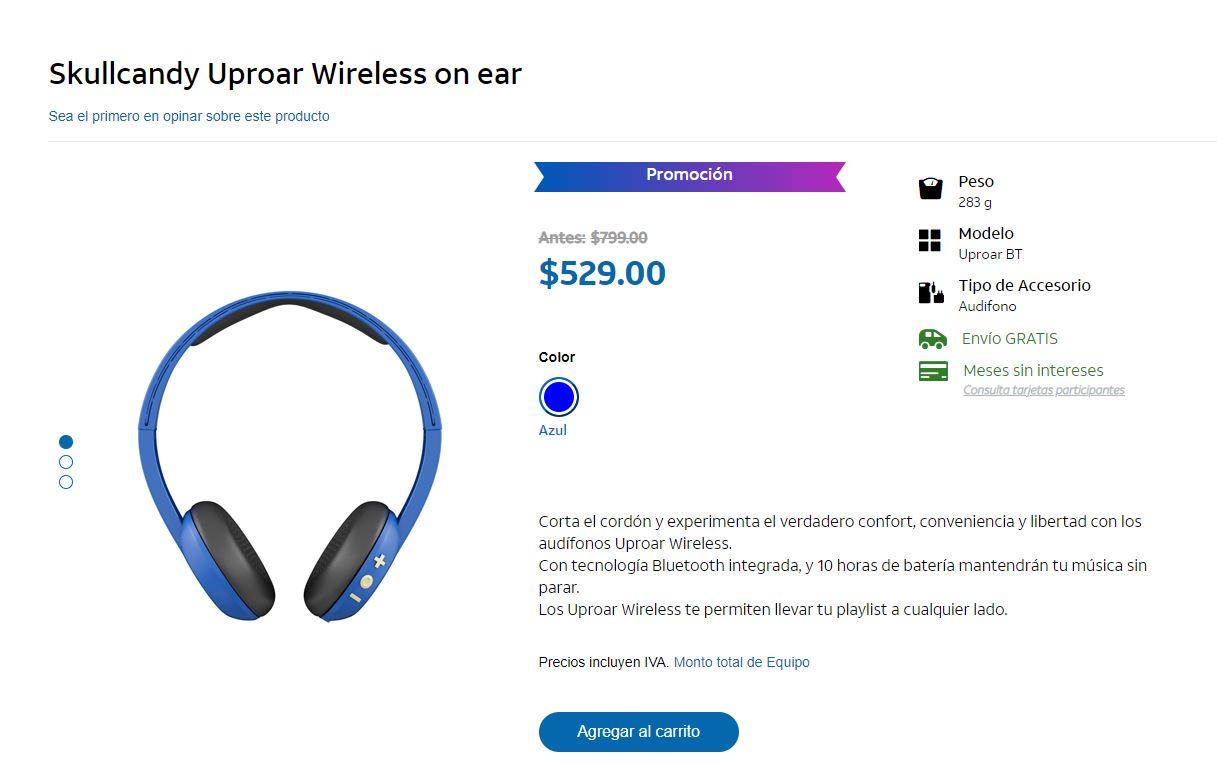 AT&T: Skullcandy Uproar Wireless (Azul)