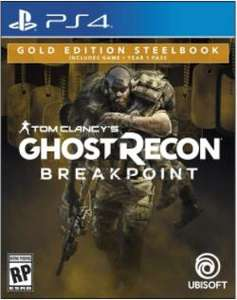 Walmart: Ghost Recon Breakpoint Steelbook Gold Edition PlayStation 4 Físico