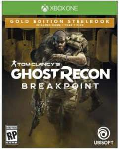 Walmart: Ghost Recon Breakpoint Steelbook Gold Edition Xbox One Físico