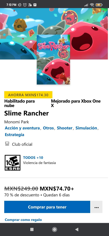 Microsoft Store: Slime rancher para Xbox One