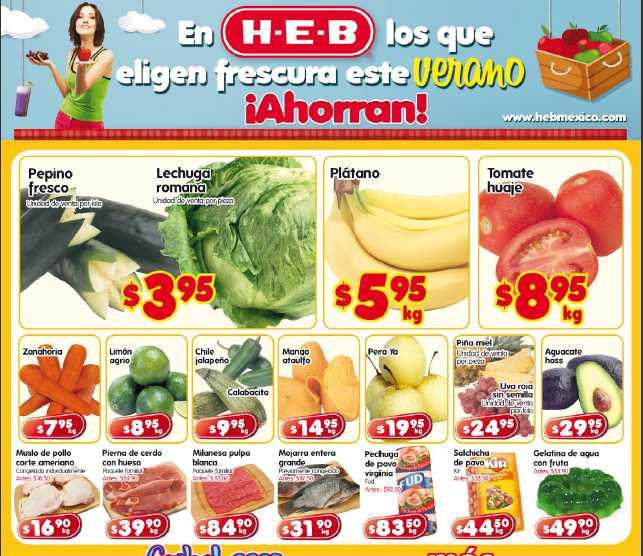 Frutas y verduras en HEB: pepino y lechuga $3.95 y más