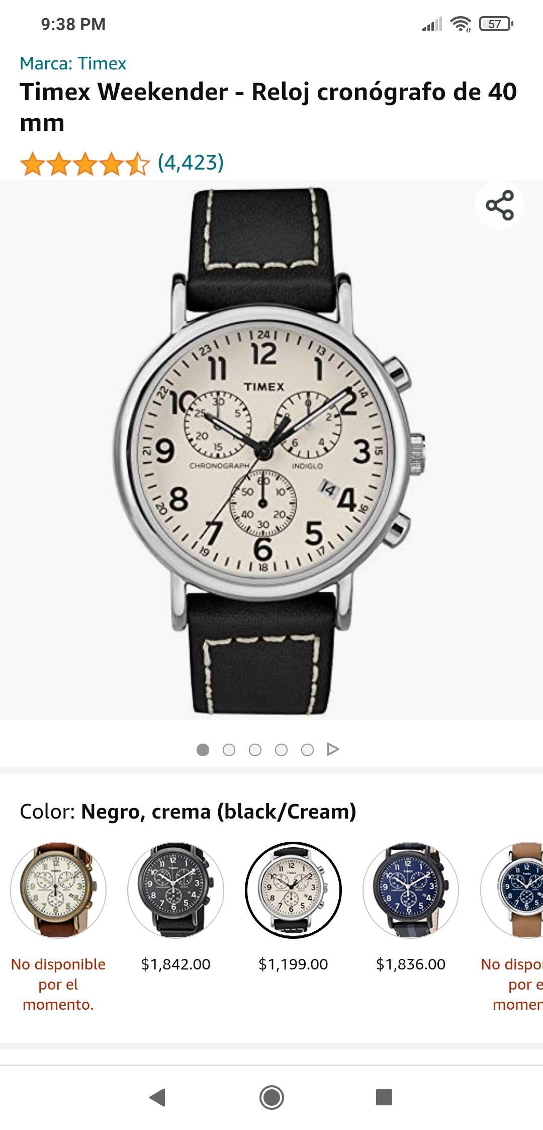 Amazon: Reloj Timex Weekender