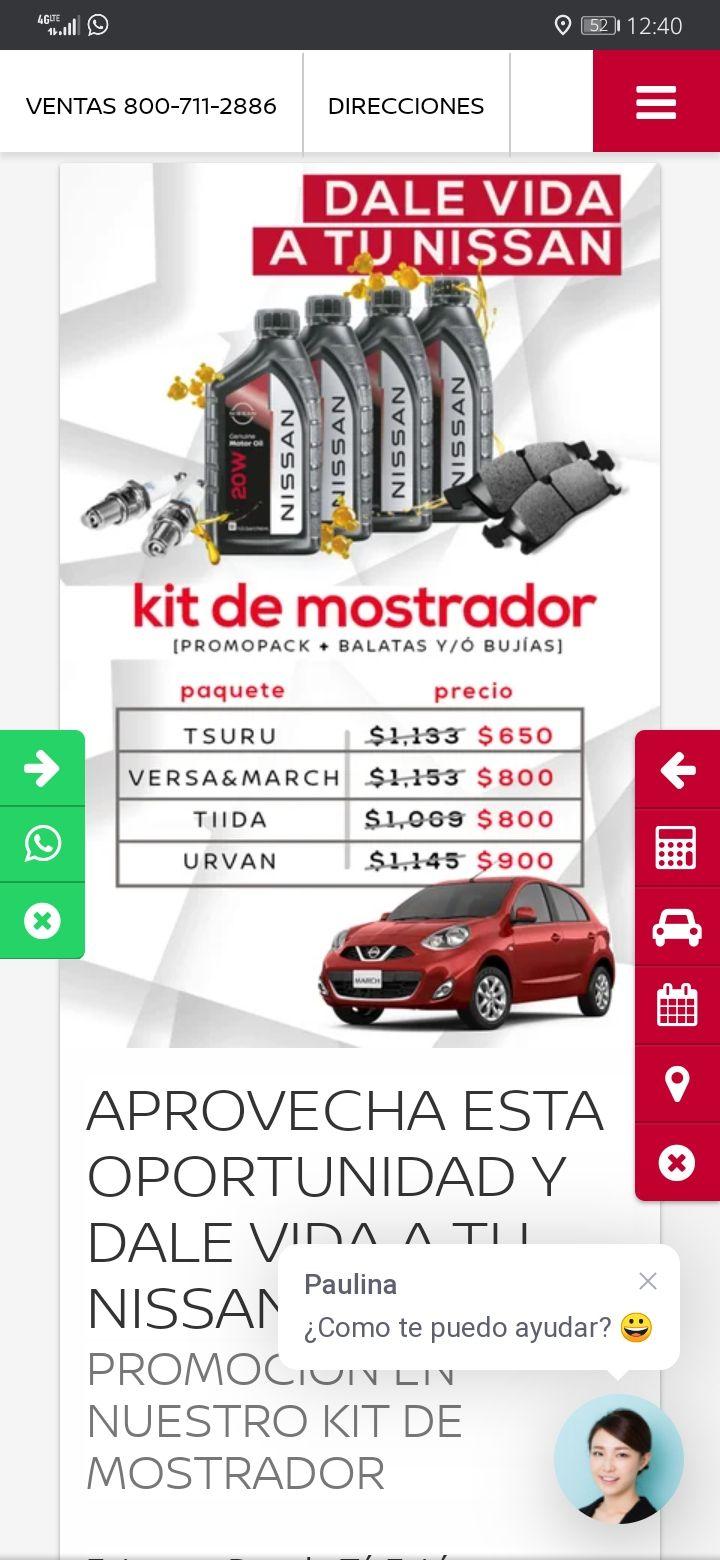 Nissan Querétaro: Kit de Mostrador