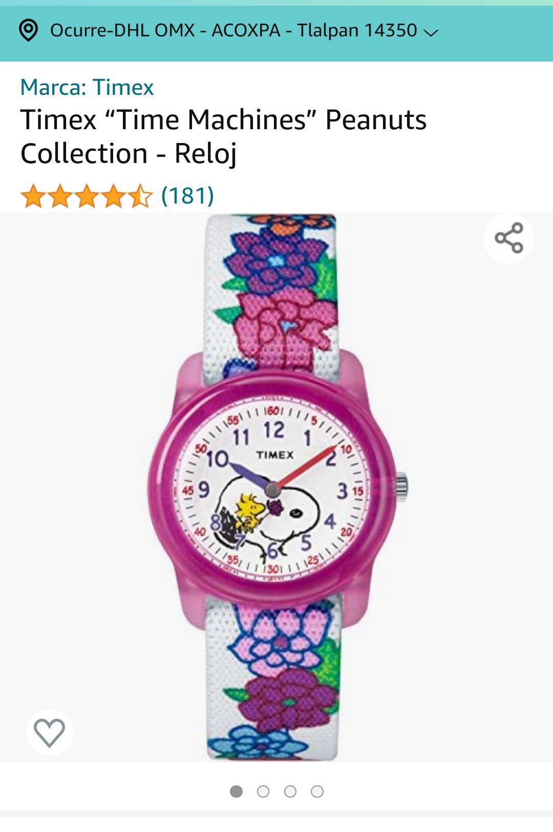 "Amazon: Timex ""Time Machines"" Peanuts Collection - Reloj"